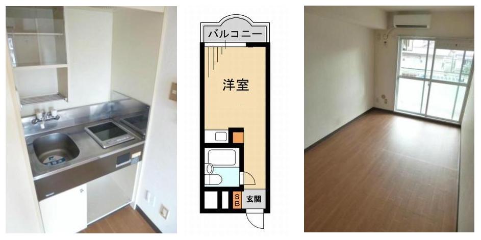 貧乏クサイ 日本のワンルームマンション 16㎡
