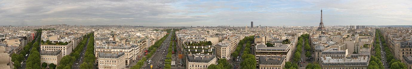 建物の高さがそろった現在のパリ